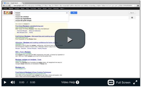 como encontrar palabras clave usando google