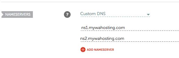 domain server custom WA